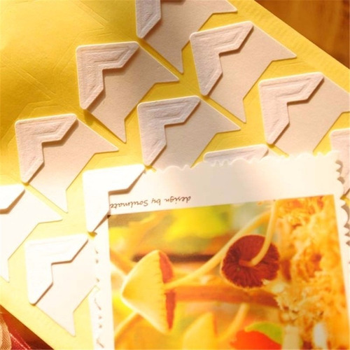 esquinas adhesivas fotos album fotografico 4 hojas 96pzs