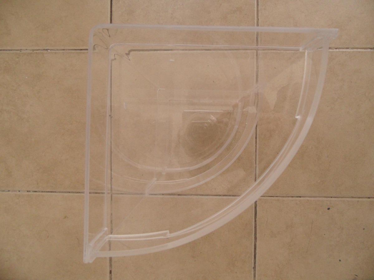 Esquinero 3 pisos ba o acr lico transparente 40cm hecho for Piso acrilico transparente