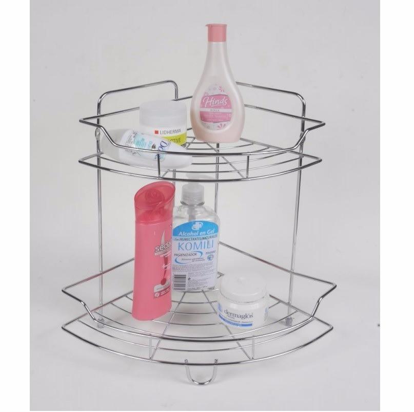 esquinero baño soporte cremas estante organizador cromado. Cargando zoom. 804f92ebaf86