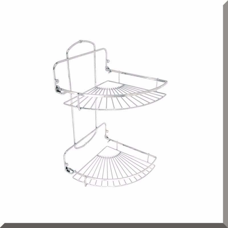 esquinero cromado organizador accesorio de baño dos estantes. Cargando zoom. d5f5a9cd5ba7
