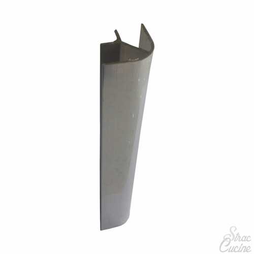 esquinero de 90° de aluminio brillante para rodapie