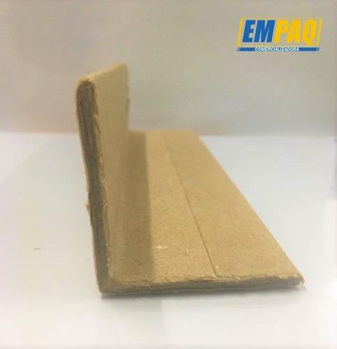 esquinero de cartón medidas: 2 x2 x150 cm, paq 50 pzs
