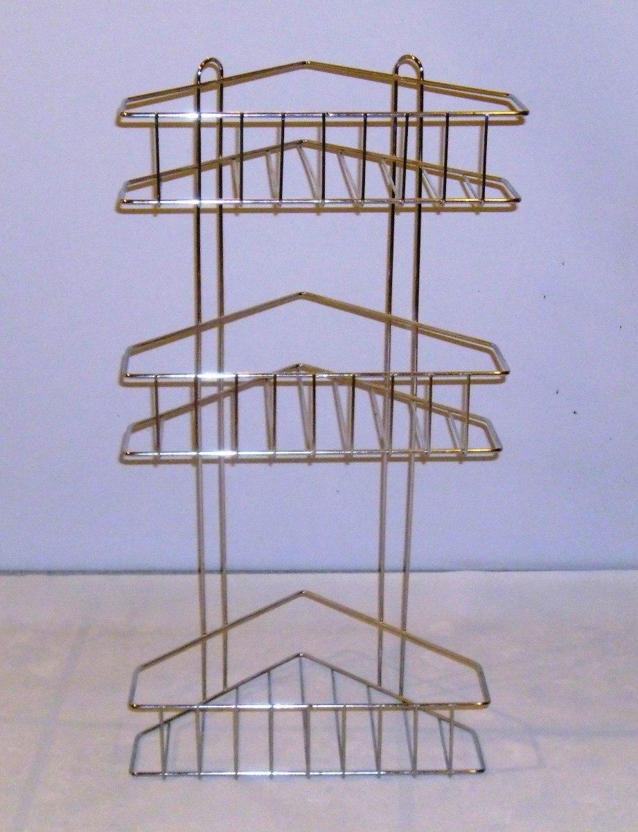 esquinero de tres estantes cromado para baño o cocina. Cargando zoom. 75c4838d22ee