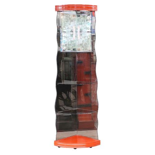 esquinero de vidrio oscuro ideal para sala - decoración