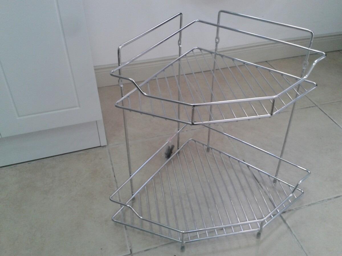 Esquinero En Metal 2 Pisos Para Baño Accesorio Repisa Ducha - $ 630 ...
