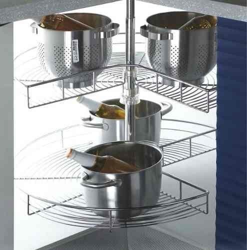 esquinero giratorio 3/4 herrajes accesorios cocina empotrada