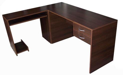 esquinero pc escritorio en l oficina 1,65x1,35 2 cajones