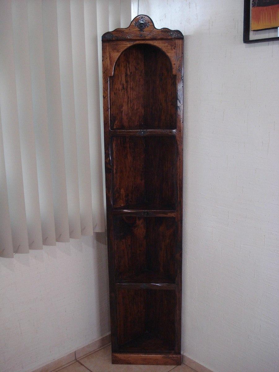 Esquinero r stico madera de pino excelente calidad for Bar de madera para sala