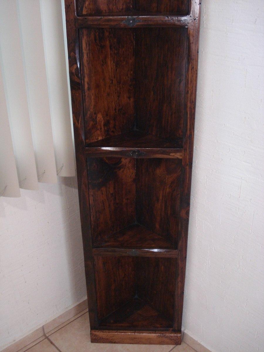 Esquinero r stico madera de pino excelente calidad for Bar rustico de madera