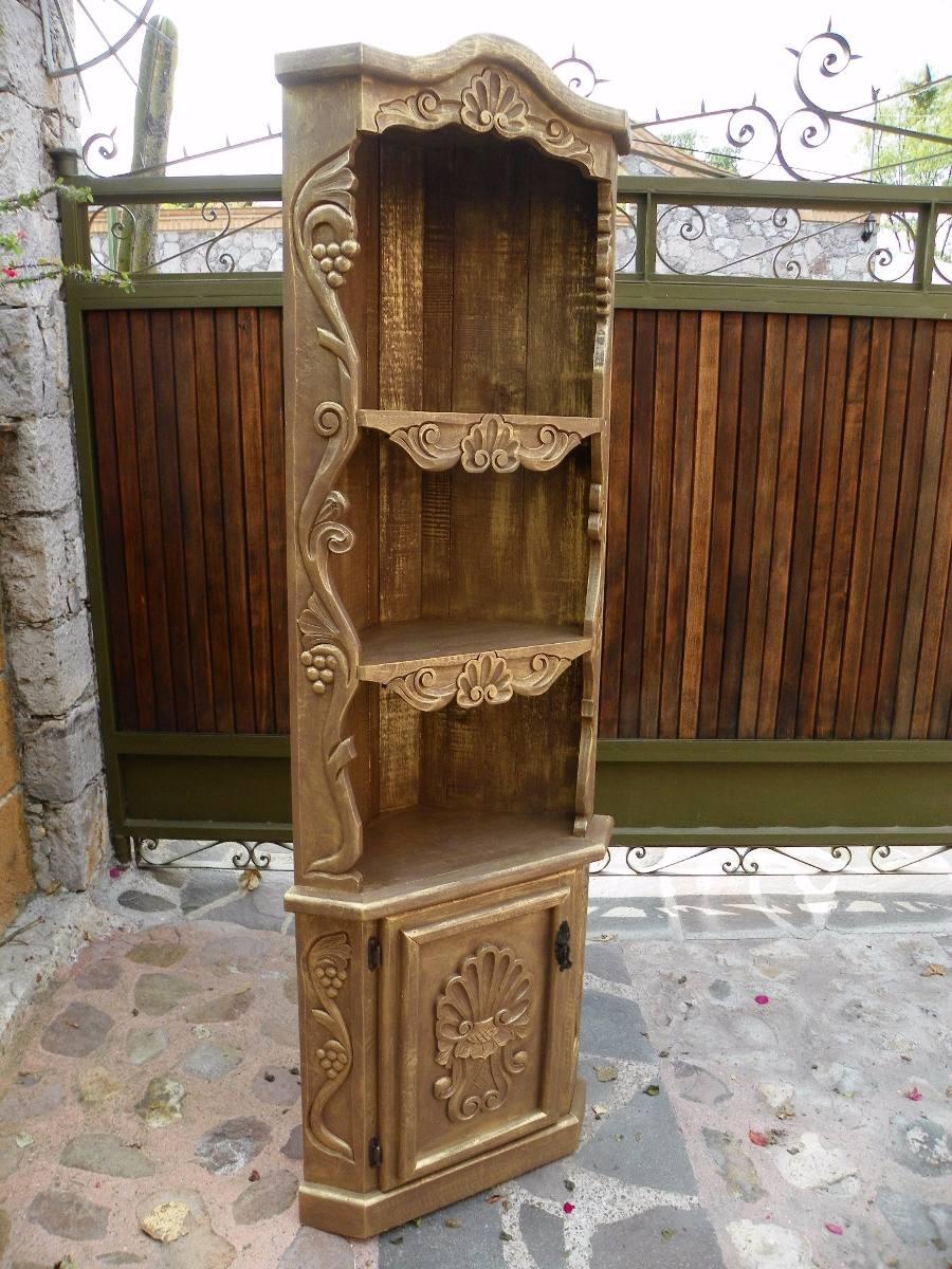 Esquinero vintage tallado en madera con decapado oro for Esquineros de madera