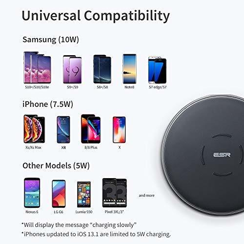 Comunicacin mvil y accesorios 7.5W/10W esr Cargador Inalmbrico ...