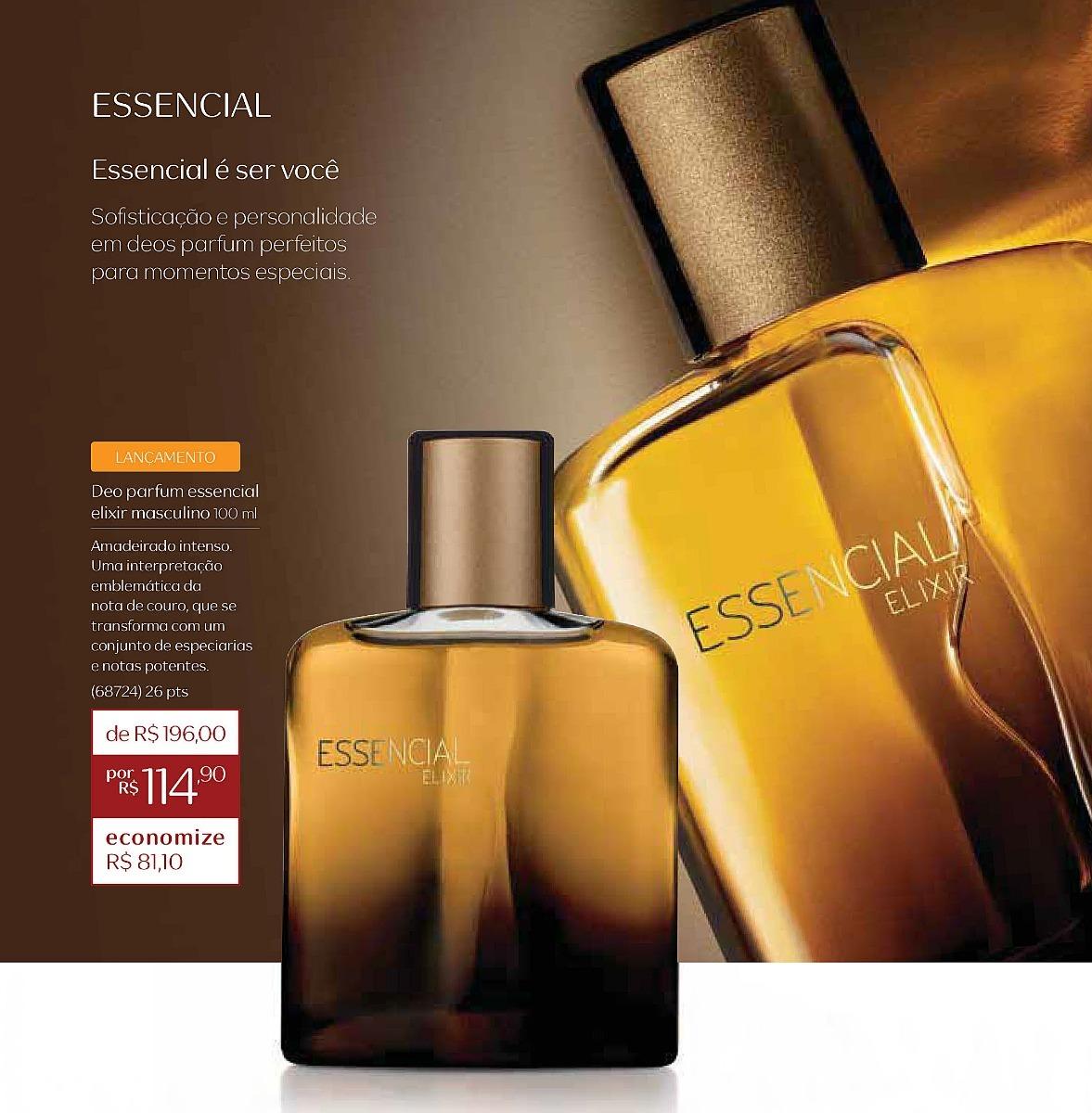 e402a04c8 Essencial Elixir Masculino Deo Parfum Natura   50% Off !! - R  98