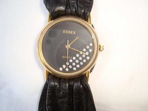 essex germany reloj dama  acero oro circones cuero