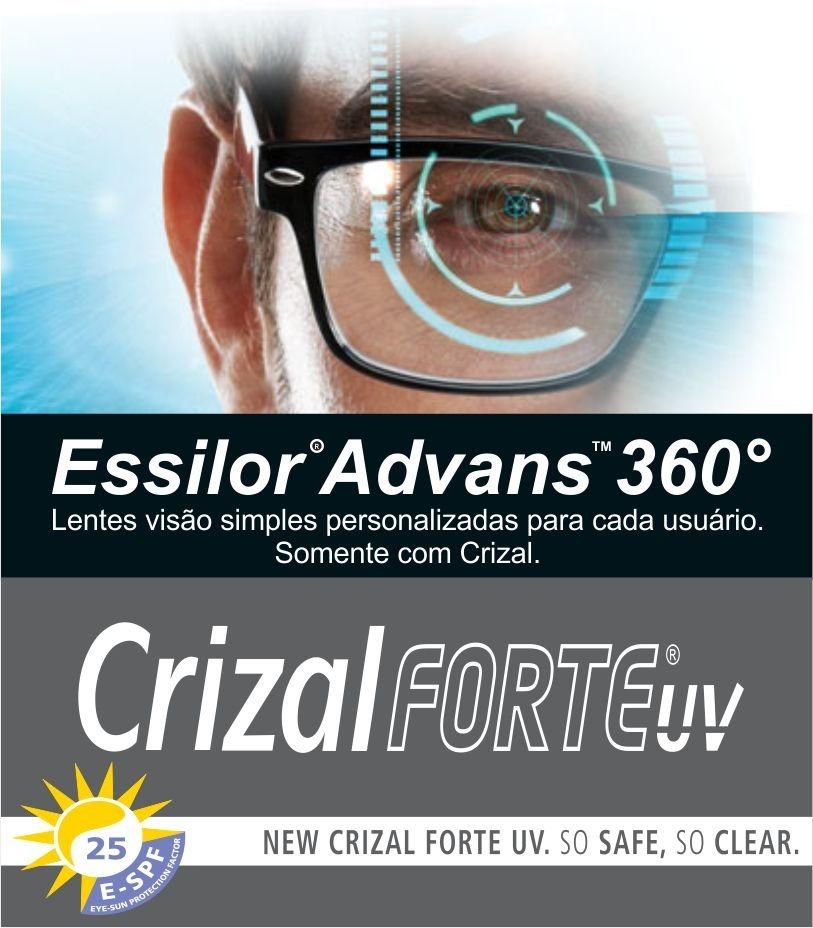 Essilor Advans 360 Stylis 1.74 Com Crizal Forte - R  1.415,61 em ... a612f542ca