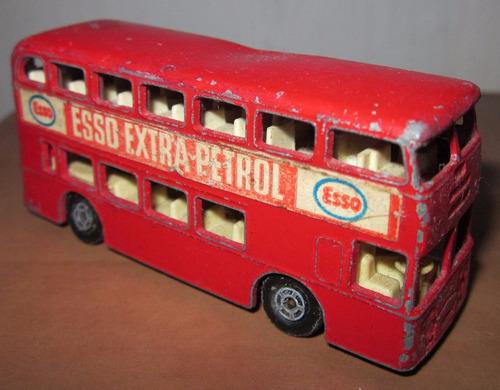 esso extra petrol juguete bus matchbox england