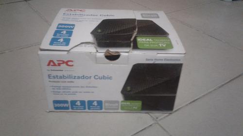 estabilizador apc cubic 300w bivolt/115v preto seminovo