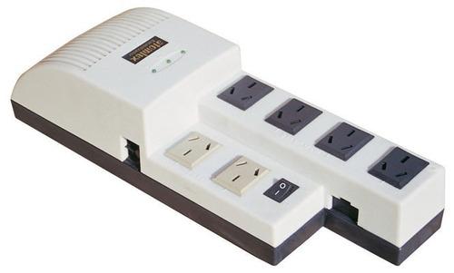 estabilizador de tensión 6 tomas + protec electricaboulevard