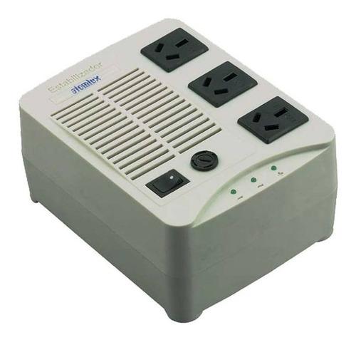 estabilizador de tension atomlux h500 3 bocas 220v + filtro