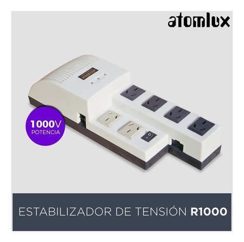 estabilizador de tension atomlux r1000 distribuidor pce