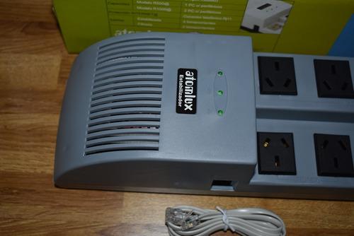 estabilizador de tension atomlux r1000 pc tv computadora ps4