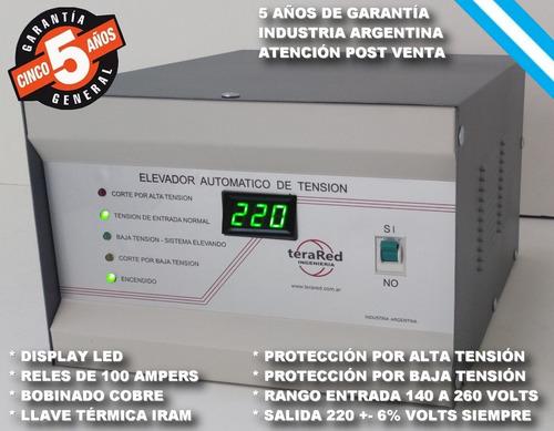 estabilizador elevador automatico tension 15 kva siempre 220