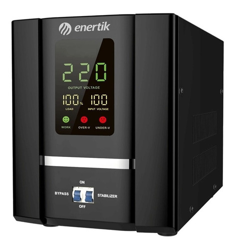 estabilizador elevador de tensión rele 140-260vca 7.5kva