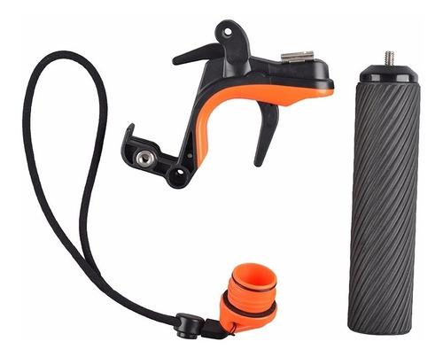 estabilizador gatilho gopro suporte celular e sapata led