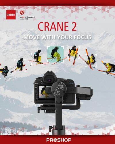 estabilizador gimbal zhiyun crane 2 camara reflex steadycam
