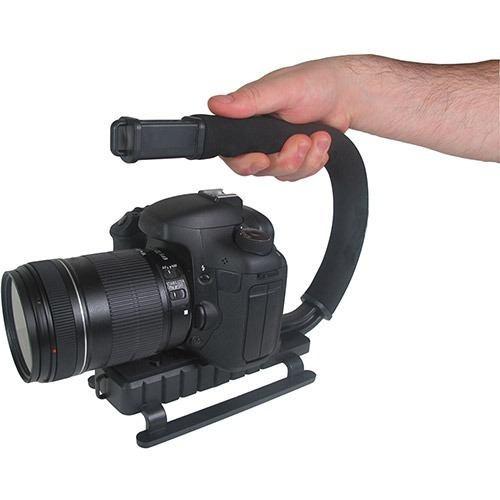 estabilizador grip de mao suporte filmadora vivitar vpt-200