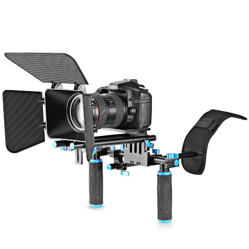 ec5705826 estabilizador neewer shoulder rig + matte box video reflex. Cargando zoom.