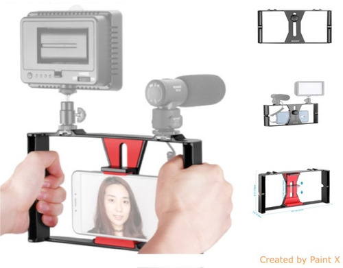 estabilizador neewer smartphone video foto rig gimbal iphone