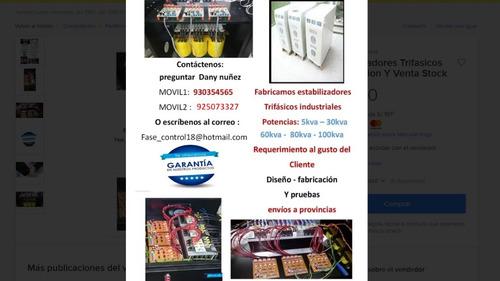 estabilizadores trifasicos fabricacion y venta stock