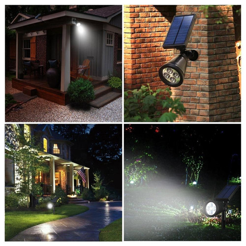 estaca reflector solar 4 led sensor mov 2 en 1 spot ip65