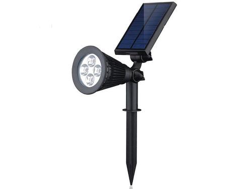 estaca solar luz 4 led sensor movimiento 2 en 1 pared x5 un
