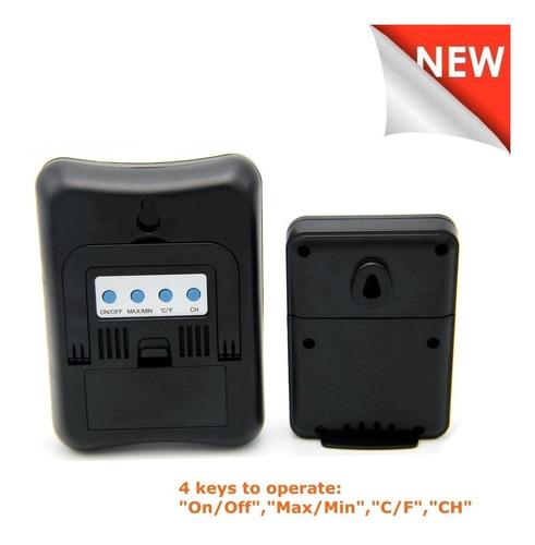 estacao metereologica lcd completa termometro sensor externo