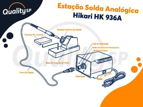 estaçao solda analógica hikari hk 936a 127v