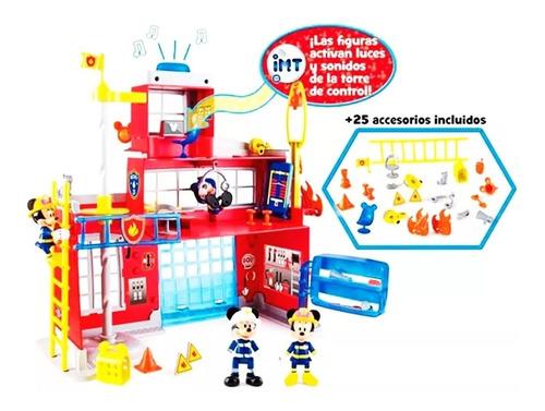 estacion bomberos la casa de mickey mouse luces sonidos acc