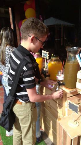 estacion de bebidas/ alquiler mobiliario/ barra movil