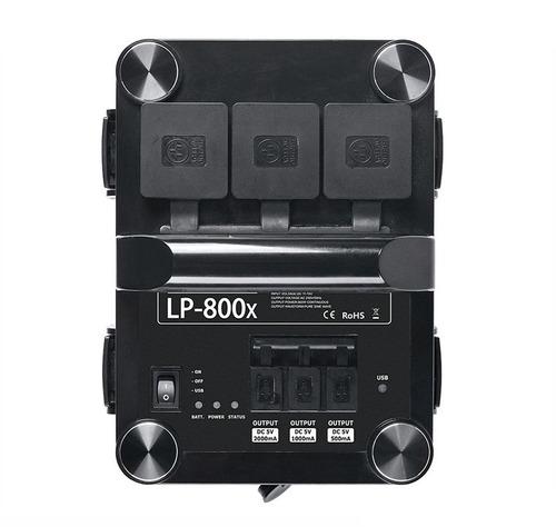 estacion de carga portatil lp-800x para estudio fotográfico