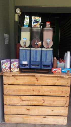 estación de comidas y bebidas, sifones cerveza barras móvil