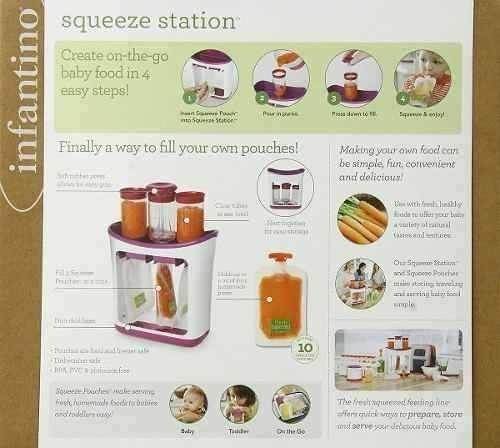 estacion de papillas ( squeeze station ) + cuchara