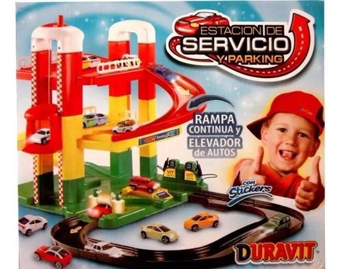 estación de servicio 2 rampas duravit vavi toys
