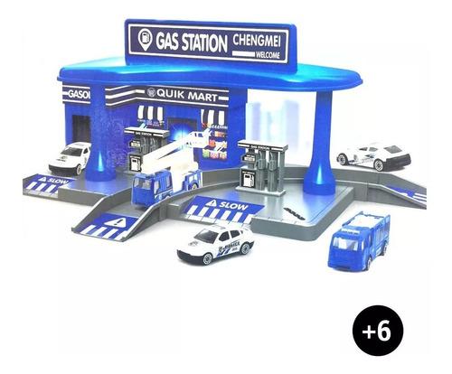 estacion de servicio gasolina policia gs diy oficial