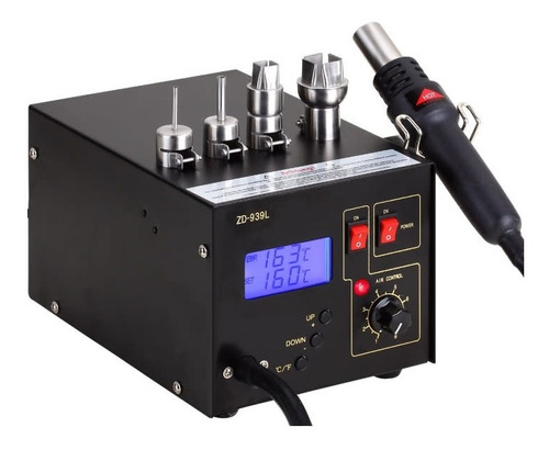 estacion de soldado aire caliente digital para smd zd-939l