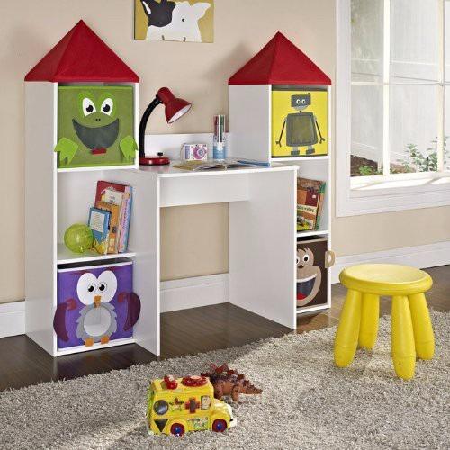 Estacion de trabajo con almacenamientos para ni os for Mobiliario para ninos