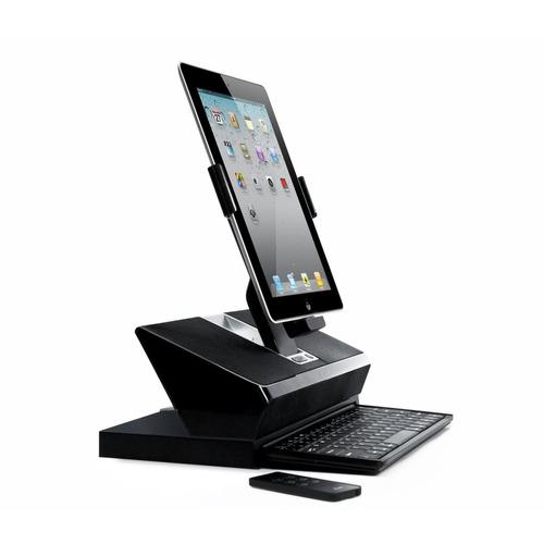 estación de trabajo con bocina teclado iluv workstation ipad