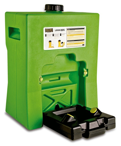 estacion lavaojos portatil pared 60 l. steelpro- induofertas