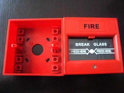 estacion manual de incendio vidrio