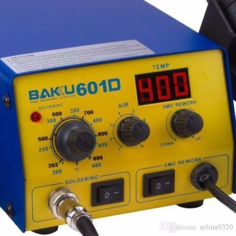 estación soldar baku 601d. digital.cautín y pistola de calor