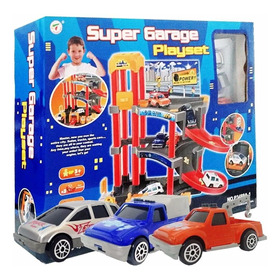 Estacionamento Super Garage 2 Andar 3 Carrinhos P3488a-1
